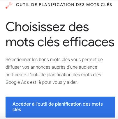 Keyword Planner Google - promotion musicale